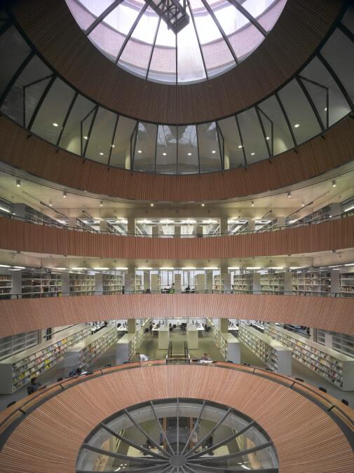 Bibliotheek, bolvormige vide